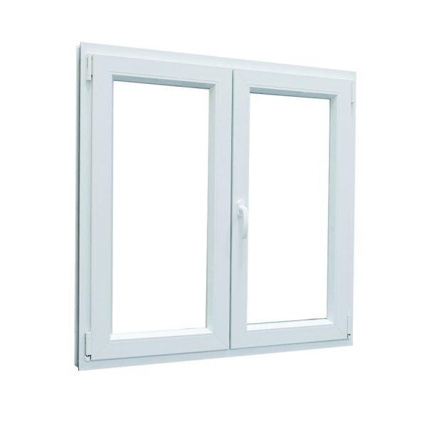 Ventana PVC oscilobatiente blanca