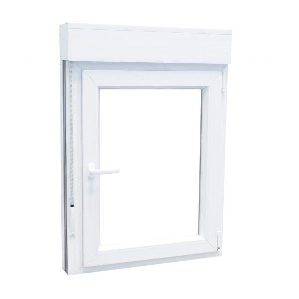 Ventana PVC 1 hoja blanca con persiana oscilobatiente