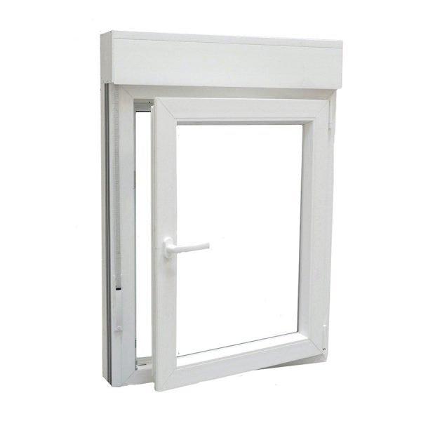 Ventana PVC 1 hoja blanco abierta